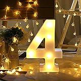 Letrero de luz con números WATOPI de 0 a 9 dígitos para luz nocturna de pie, boda, fiesta de cumpleaños, funciona con pilas, lámpara de Navidad para decoración de casa o bar