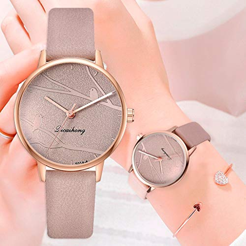 Valentinstag Mode Paar Uhr Mode Damen Sweet Watch Mode Kleid Damenuhr Elegante Vogel Leder Armband Quarzuhr Damen Fine Watch Casual Einfache Quarzuhr