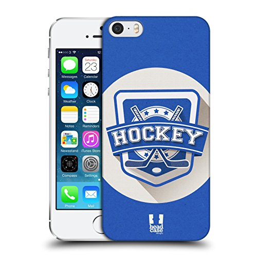Head Case Designs Hockey Sportabzeichen Harte Rueckseiten Huelle kompatibel mit Apple iPhone 5 / iPhone 5s / iPhone SE 2016