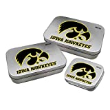 Worthy Promotional NCAA Iowa Hawkeyes Decorative Mint Tin 3-Pack with Sugar-Free Mini Peppermint Candies