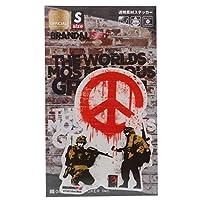 バンクシー[ダイカット クリア ステッカー]ビッグ シール/CND Soldiers Banksy