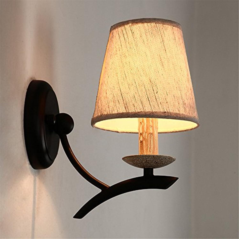 StiefelU LED Wandleuchte nach oben und unten Wandleuchten Doppelte Wand lampe Wohnzimmer Dekorative Wandleuchte Schlafzimmer Wand lampe Nachttischlampe single fabric Wandleuchte