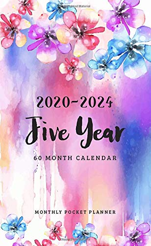 2020-2024 Monthly Pocket Planner: 5 Year Appointment Calendar | 60 Months Planner | Agenda Schedule | Organizer Notebook |Daily Planner Time Management (Personalized Pocket Planner)