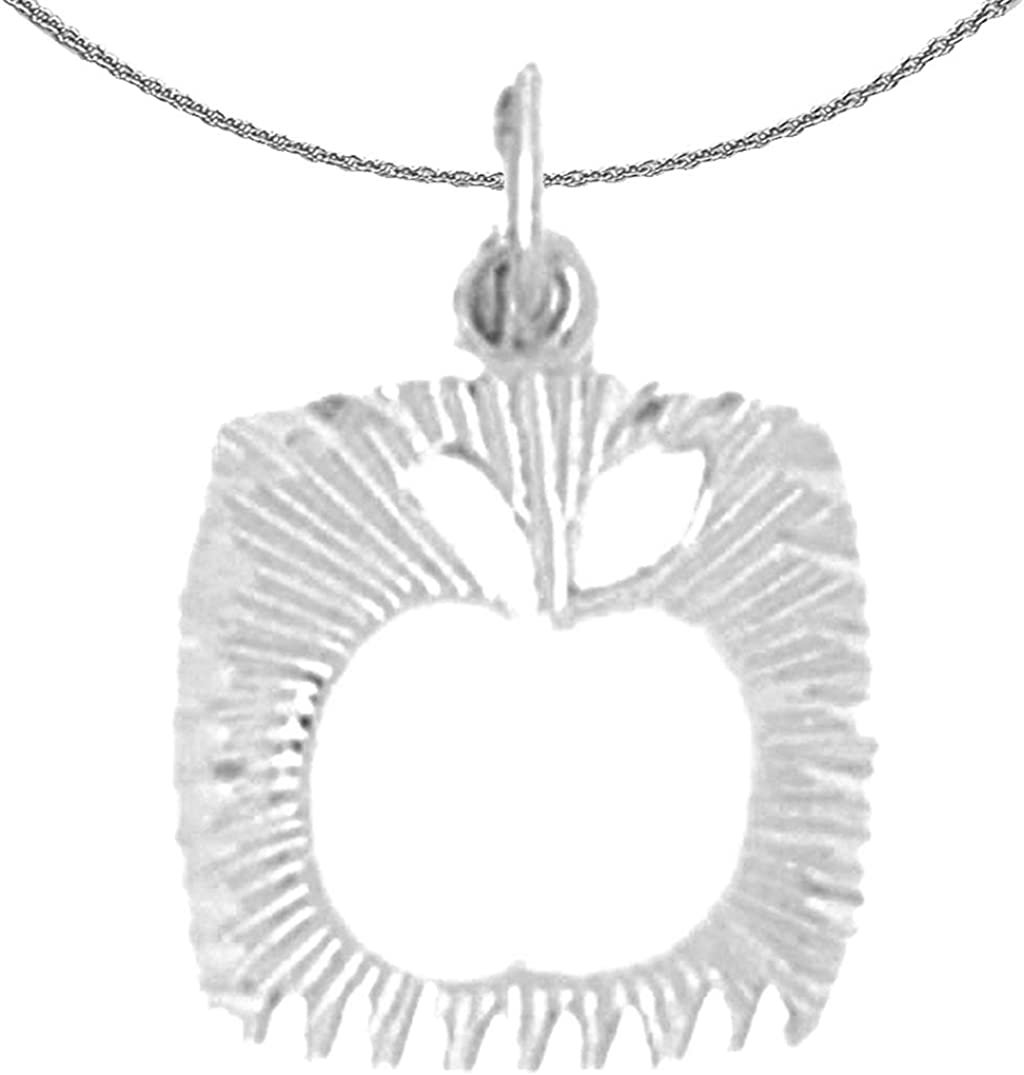 Jewels Obsession Gold Apple White Save Our shop most popular money Necklace 14K Pend