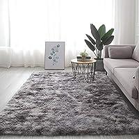 柔らかく厚いカーペットのリビングルームのベッドルームエリアラグマット、居間の家の装飾のための毛むくじゃらのぬいぐるみカーペット,B-140X200cm