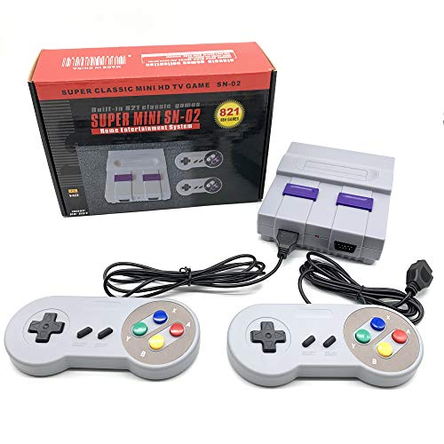 zhikulong Mini Classic Retro Game Console 1080P HD Built-in 821 Classic Games and 2 NES Classic Controller HD Output Video Retro Game Console , Children Gift,Birthday Gift Happy Child Memories,