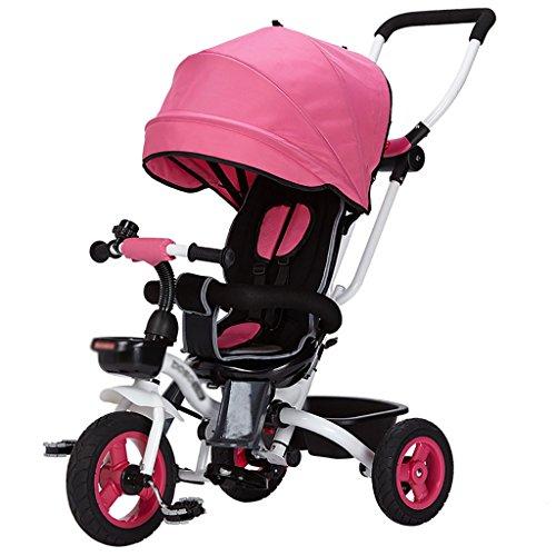 Kinderen driewieler Fiets Vouwen Draai naar Baby Trolley