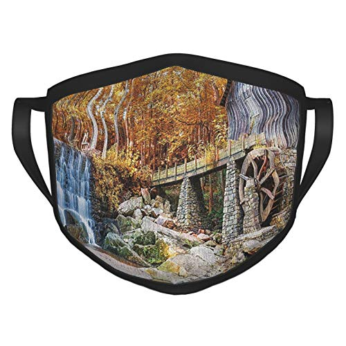xmy reutilizable cara bufanda natural cascada decoración otoño temporada imagen de molino...
