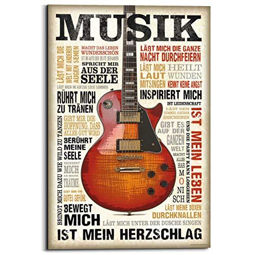 REINDERS Musik ist Leidenschaft - Wandbild 60 x 90 cm