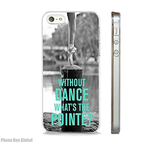BALLERINA BALLET DANCE QUOTE CLEAR RIM telefoonhoesje past APPLE IPHONE 7 PLUS