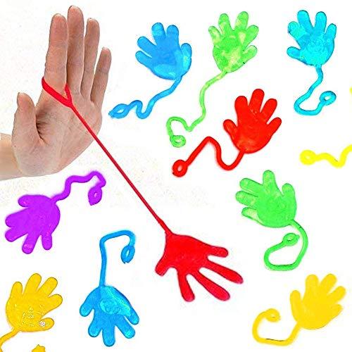German Trendseller® - 12 x Stretchy - Sticky - Glibber - Klatschhand - Mix - für Kinder ┃ Kindergeburtstag ┃ Glibber & Stretchy ┃ Mitgebsel ┃ 12 Stück