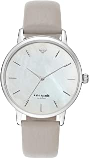 Women's Clocktower Gray Leather and Silvertone Metro Watch