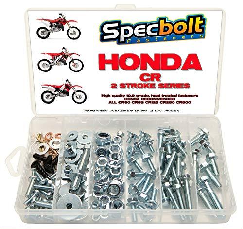120pc Specbolt Fasteners Brand Bolt Kit fits: Honda CR Two Stroke Bolt Kit for Maintenance & Restoration of MX Dirtbike OEM Spec Fastener CR80 CR85 CR125 CR250 CR500