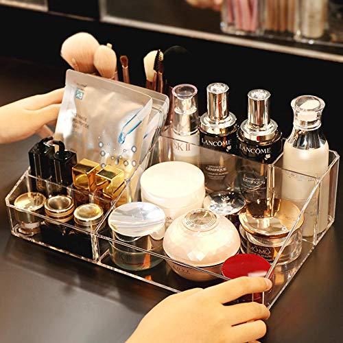 uictt Kosmetik-Aufbewahrungsbox, Transparentes Design, Kissen Lidschatten-Tablett, Rouge-Halter,...
