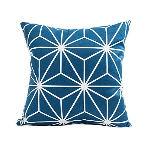 Winkey - Taie d'oreiller carrée pour voiture, décoration d'intérieur, housse de coussin dimensions : 30 x 50 cm., Polyester, bleu, 43 x 43 cm