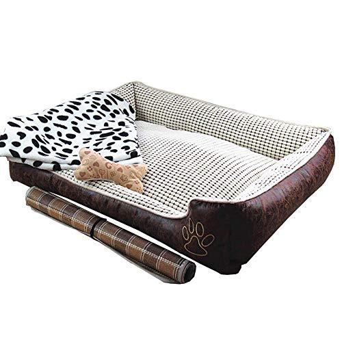 Hai Ying huisdier bed waterdicht wasbaar hondenbed set van 4 voor Crate kleine grote hond kat huisdier huis met afneembare cover huisdier nest, kat nest kennel gemakkelijk schoon te maken 90x70x25cm Stijl1