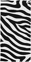 SEULIFE Soft Multipurpose Towel Abstract Animal Zebra Print, Bathroom Beach Towel Cotton for Home Kitchen Swim Spa Gym, 15x30 inch
