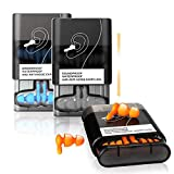 Noise Cancelling Ear Plugs for Sleeping, 6 Pairs Reusable Waterproof Silicone Ear Plugs for Swimming, Snoring, Concerts, Working, Motorcycle, Travel Hearing Protection (Small & Medium)