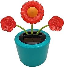 Ouniman Dancing Solar Toys, 26 Styles Solar Dancing Flower Cactus Solar Powered Toys Car Swinging Dancing Toy Car Windowsill Decoration Holiday Car Dashboard Office Home Desk Decor (H)