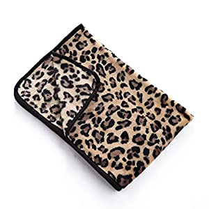 Nesutoraito Leopard Dog Blanket for Small Medium Large Dogs Pet Cat Flannel Throw Fleece Blanket Bed Cover