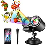 Christmas LED Projector Lights, LUXONIC 16 Slides Waterproof...