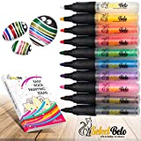 Paint Pens for Rock, Easter Decorations, Ceramic, Glass, Mugs, Wood, Metal, Fabric, Canvas - Set of 10 Acrylic Paint Markers Medium Tip + Stencil for YOU