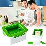 Akerfu Prensa casera de Tofu, Elimina la Humedad del Tofu automáticamente, Mejora el Sabor y la Textura