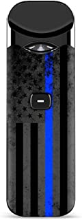 IT'S A SKIN Decal Vinyl Wrap for Smok Nord Pod System Vape Sticker Sleeve/Thin Blue line American Flag Distressed