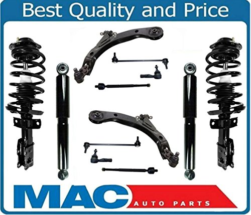 Mac Auto Parts 142903 Front Strut Coil Spring Assembly & Rear Shocks + Suspension Steering Chassis Kit Cobalt HHR G5