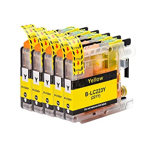 ICAI Cartucho de Tinta Compatible con Brother LC223 para Brother DCP-J4120DW MFC-J5320DW DCP-J562DW MFC-J880DW MFC-J5620DW MFC-J680DW MFC-J4625DW MFC-J5720DW J4420DW J4620DW