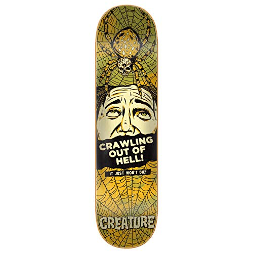 Creature Skateboards Skateboard-Brett/Deck, Medium, 21,6 cm