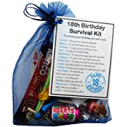 SMILE GIFTS UK 18th Birthday Survival Kit Gift - Novelty 18th gift for him BLUE Bag - 18th birthday gift, 18th birthday present, 18 gift, Male 18th Gift, 18th birthday