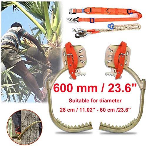 Hölzerne Pole Fuß Schnalle, Steigeisen Bäume Klettern, Baumklettern Werkzeug Pole Spike Edelstahl Schuhe geeignet for Durchmesser 28 cm / 11.02
