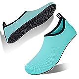 Hombre Mujer Escarpines Zapatillas Agua Zapatos De Agua para Zapatos De Buceo De Playa NatacióN Surf Piscina Zapatos Ligeros De Antideslizante Secado RáPido(XSP.Azul Verde,36 EU 37 EU)