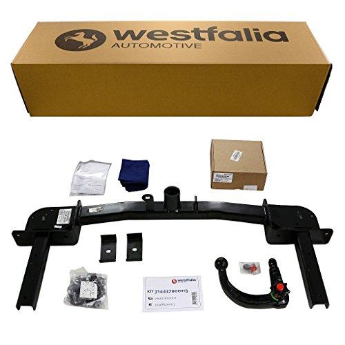Westfalia Abnehmbare Anhängerkupplung - AHK für Opel Zafira Tourer (ab BJ 01/2012) im Set mit 13-poligem fahrzeugspezifischen Elektrosatz