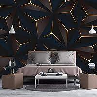 HGFHGD 3D写真壁紙モダンゴールデン幾何学的抽象線リビングルームテレビ背景防水壁画キャンバス壁ステッカー