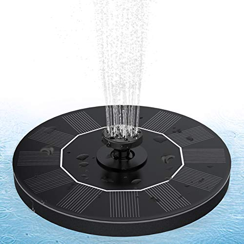 Peteast Solar Bird Bath Fountains, Upgraded Solar Fountain with 4 Nozzle, Free Standing Floating Solar Powered Fountain Pump for Bird Bath/Garden/Pond/Pool/Outdoor