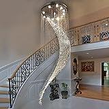 Lustre Moderne minimaliste double escalier lustre restaurant lustres en cristal villa...