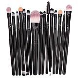 HEHE Maquillaje Profesional 15Pcs Cepillo del Sistema Compone El Cepillo Kit De Herramientas De Polvo De La Fundación del Definidor Shader,A