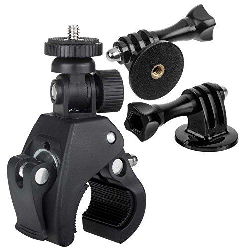 yayago Fahrrad Rohrklemme (Rohrdurchmesser von ca. 1,5cm - ca. 3,6cm) Halterung für Rollei Actioncam 430