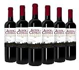 Altos de Castilla- Roble 2016 Tempranillo & Syrah-Identificación geográfica protegida Vino de la Tierra de Castilla- 6 botellas x botellas de 750 ml - Total: 4500 ml (Tinto)