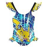 wostyc Po-kémon Pika-chu Girls One Piece Swimsuits Hawaiian Bikini Kids Beach Swimwear 6-10Y