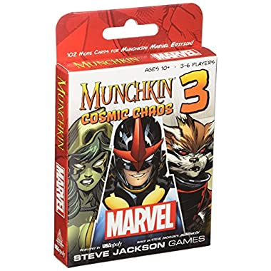USAopoly MUNCHKINA 3 Marvel Cosmic Chaos Card Game