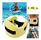 ZWIFEJIANQ Swim Floating Belt - Water Aerobics Exercise Belt - Aqua Fitness Foam Flotation Aid - Swim Training Equipment for Low Impact Swimming Pool Workouts & Physical Therapy (Yellow)