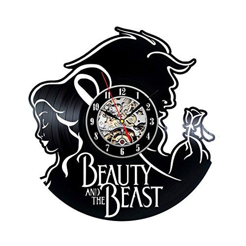 La Bella y la Bestia es el tema de vinilo Reloj de pared