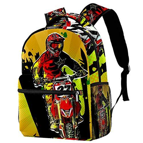 Bambino Satchel Scuola Motocross Zainetti per Bambini Zaino Bambino Satchel Scuola Asilo Mini 29.4x20x40cm