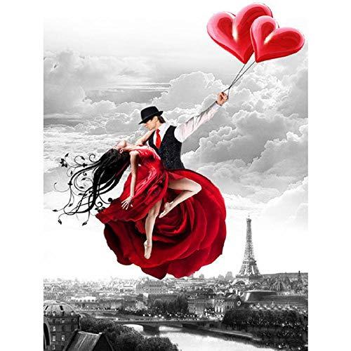 WHTYYPT Classico Puzzle di Legno Amante Romantico Amore Paesaggio Scenario Gioco Giocattolo Puzzle Regalo di Decompressione per Adulti-500 PCS