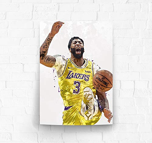 Anthony Davis Los Angeles Lakers Poster/Canvas Print - Basketball Artwork - Kids Room Wall Decor - Man Cave - Sports Decor - Birthday Gift Idea (Premium Poster, 24 x 36 Inches) image