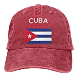 Baseball Caps für Herren/Damen,Golf-Kappen,Cuba Flag Men's Women's Adjustable Jeans Baseball Hat...