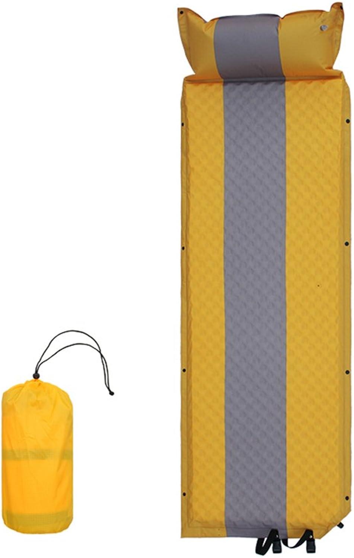 NINI Aufblasbare Isomatte Tragbare Tragbare Tragbare Campingmatte Im Freien Strand Tourismus Mehrzweck Zwei Farben (Gelb und Grün),Gelb B07FMBC8MK  Guter Markt 1ffe81